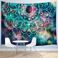 Mandala Wall Tapestry Geometric with Colorful Galaxy Stars Wall Hanging Tapestry