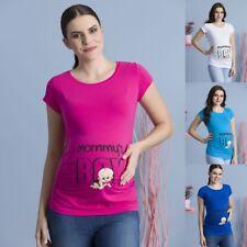 Umstandsmode Schwangerschafts-Mutterschaft_T-Shirt mit Süßen Aufdruck Neu 7775k