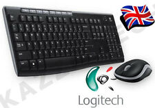 Logitech MK270 Wireless UK QWERTY KeyBoard and Mouse Desktop Combo Set Black &