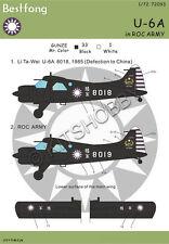 Bestfong Decal 1/72 U-6A / de Havilland Canada DHC-2 Beaver R.O.C. (Taiwan) Army