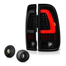 *Black Smoke* 99-07 Ford Superduty [NEON TUBE] LED Tail Lamp License Plate Light