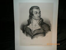 Grand Portrait de FOUQUIER - TINVILLE -  Révolution - Tribunal.