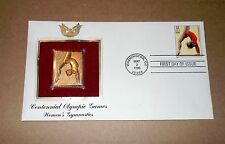 22kt! Gold Stamp FDC! 1996 Cent.Olympic Games! Women's Gymnastics! Good/VG Cond!