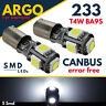 233 Ba9s T4w Led Bayonet Car Xenon White Halogen Bulbs Error Free Side light 12v