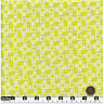 Quilting Fabric Lime Green White Squares & Leaves Fat Quarters 100% Cotton