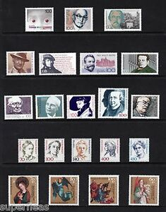 SUPERFLEAS c.1990 Germany mint stamps • Famous people personalitiesCv$38 MNH