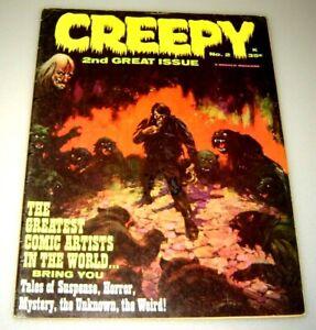 CREEPY #2 APRIL 1965 VG/FINE WARREN PUBS FRANK FRAZETTA COVER