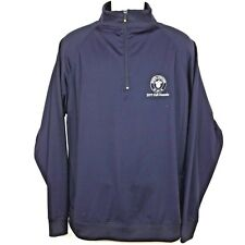 FootJoy Navy Blue Nylon 1/2 Zip Pullover Golf Jacket Men's Large North Andover