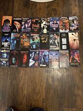 RARE HORROR SLASHER SLEEZE CULT HALLOWEEN VHS LOT OF 24