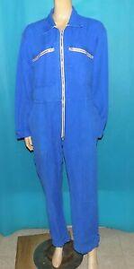 ancienne combinaison bleu DE travail A LA MAISON DE PARIS en coton bleu t 40 Fr