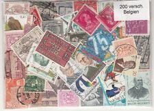 200 verschiedene Briefmarken aus Belgien , belgium , belgique