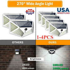 100LED Solar Power PIR Motion Sensor Waterproof Wall Light Outdoor Garden Lamps>