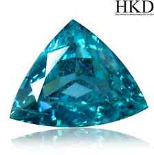 2.91 cts HKD-certified Natural Trillion-cut Greenish-Blue VVS Apatite