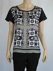 Sportsgirl Ladies Short Sleeve Print Blouse / Top size 6 Colour Multi
