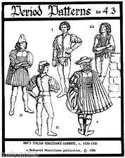 Men's Italian Renaissance Garments Costume - Period Patterns Sewing Pattern 43
