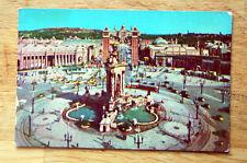 Antique 1920-1930 Barcelona Spain Street Photo Postcard Post Card Vintage