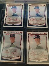 2010 LUCAS SIMS TOPPS RED AUTOGRAPH #/99 USA ATLANTA BRAVES 1ST ROUNDER PITCHER