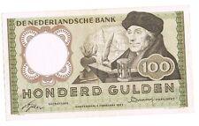 100 GULDEN BANKBILJET 1953 ERASMUS TYPE 121-1
