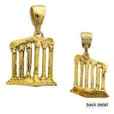 24k Gold Plated Sterling Silver Pendant Sounion Temple