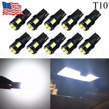 10X Super White High Power T10 Wedge LED Light Bulbs W5W 192 2825 168 194 9-16V