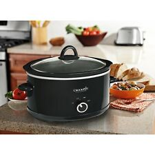 7 Quart Manual Slow Cooker Kitchen Cooking Black
