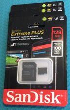 NEW SEALED SanDisk Extreme 128GB microSDXC UHS-I Memory Card