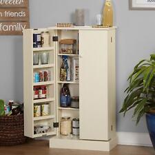 Kitchen Pantry Cabinet Storage Shelf Furniture Organizer White Tall Narrow