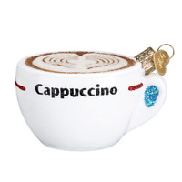 """""""Cappuccino"""" (32309)X Old World Christmas Glass Ornament"""