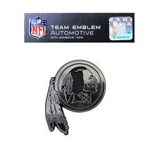 NFL Washington Redskins Plastic Chrome Emblem Decal Size Aprx. 3 x 3 1/4 inches