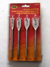 Tool Cache 4 Piece Spade Drill Set 3/8-5/8-3/4-7/8 Inch Bits  #51143