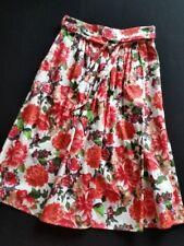 HALLHUBER falda multicolor estampado flores talla 36/Uk8 NUEVO