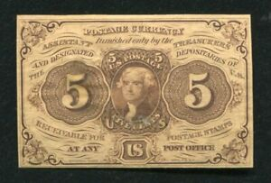 FR. 1231SP 5 FIVE CENTS FIRST ISSUE FRACTIONAL CURRENCY FACE SPECIMEN UNC
