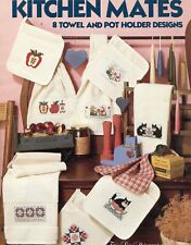 Cross Stitch Patterns Kitchen Mates Apples Chickens Cat Amish Pigs Country Decor