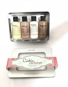 Philosophy Cookie Exchange 3 in 1 Body Wash set Oatmeal Chocolate Chip Macaroon