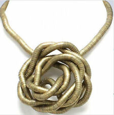 BENDABLE SNAKE CHAIN FLEXIBLE TWIST NECKLACE - BRONZE