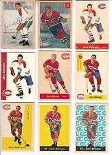 LOT OF 28 CARDS OFJEAN BELIVEAU 1953-54 PARKHURST # 27 ROOKIE