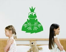 Little Frog with crown - princess & the frog highest quality wall decal stickers