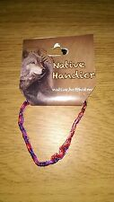 Native Handicraft Rope Bracelet - Purple, Red, Silver and Pink