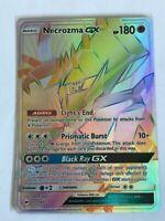 RAINBOW SECRET HYPER FULL ART Rare Necrozma GX 153/147 Pokemon Burning Shadow NM