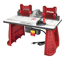 Craftsman Router Table Adjustable for Home Garage Workshop Woodworking Wood Cut
