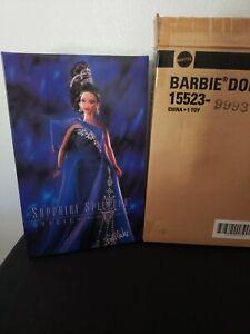 1996 Sapphire Splendor Barbie - Jewel Essence Collection- Shipper-Bob Mackie-New