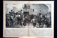 Spanish Bull-Fights 1873 GRANADA A LOS TOROS MATADOR SPORT SPAIN Large Engraving