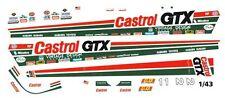 CASTROL GTX TOP FUEL DRAGSTER 1/43rd Scale Slot Car Waterslide Decals
