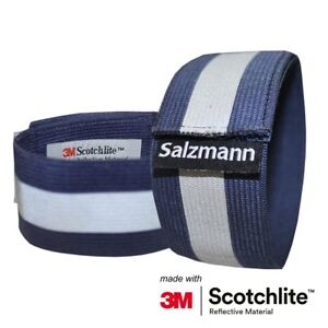 Salzmann 3M Scotchlite Reflective Running / Cycling Hi-Viz Elastic Arm Bands x2