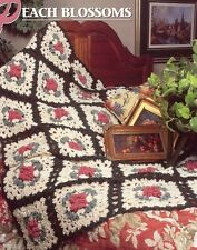 Peach Blossoms Afghan Annie's Crochet Pattern Leaflet - 30 Days to Shop & Pay!