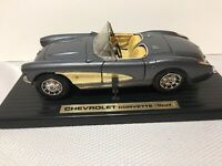 1957 Corvette Road Legends Chevrolet 1/18 Scale Die Cast Car Gray Convertible