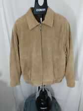 Roundtree & York Tan Suede Quilted Lining Jacket