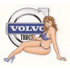 VOLVO TRUCKS left Pin Up Sticker gauche