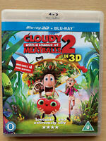 Cloudy With A Chance Of Meatballs 2 3D + 2D Blu-ray Animated Family Film Movie