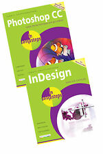 Photoshop CC in easy steps and InDesign CS3-CS5 in easy steps books set